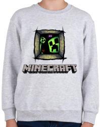 printfashion Minecraft - Gyerek pulóver - Sport szürke