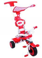 smarTrike Tricikli tartó karral napellenző tetővel piros fehér színben
