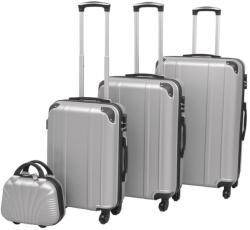 vidaXL Комплект от 4 броя твърди куфари 9119