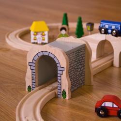 Bigjigs Toys Tunel din lemn (BJT120)