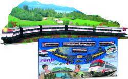 Pequetren Set trenulet electric calatori Cercanias RENFE cu peisaj