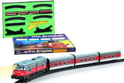 Pequetren Trenulet electric calatori Articulado cu macaz