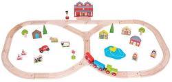 Bigjigs Toys Set trenulet - La rascruce de drumuri (BJT014)