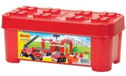 Ecoiffier Abrick - Maşini pompieri cu garaj în cutie (1396)