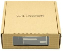 Willsoor Men leather belt Willsoor 8535 in black color