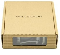Willsoor Men leather belt Willsoor 8530 in black color