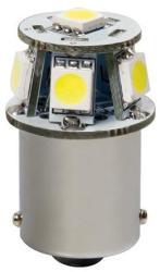Pilot Lampa Bec Hyper-Led18 - 6SMD 12V frana soclu metal BA15s 1buc - Alb