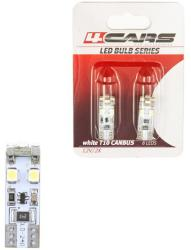 4Cars Bec Led - 8SMD 12V pozitie T10 W2, 1x9, 5d Canbus 2buc 4Cars - Alb