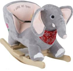 BabyGO Balansoar cu Sunete - Elefantul Curios