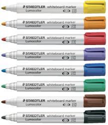 STAEDTLER Whiteboard marker varf rotund, 8 buc/set, STAEDTLER Lumocolor