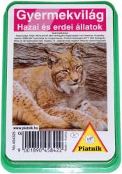 Piatnik Gyermekvilág Hazai és erdei állatok kártyajáték