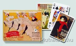Piatnik Toulouse-Lautrec művész römikártya 2*55 lap