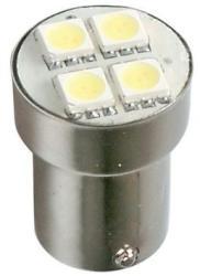 Pilot Lampa Bec Hyper-Led12 - 4SMD 24V frana soclu met P21W BA15s 1buc - Alb