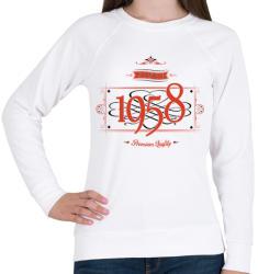 printfashion since-1958-red-black - Női pulóver - Fehér