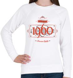 printfashion since-1960-red-black - Női pulóver - Fehér
