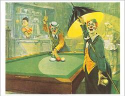 Tat Biliard Poster Clown Bernard Leemker
