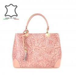 c833898ab941 Vásárlás: Made in Italy Motívumos olasz bőrtáska Bella - rózsaszín ...
