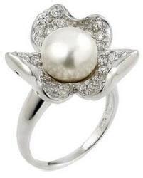 BeSpecial Inel argint 925 in forma de floare cu perla si zirconii (...