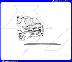 PEUGEOT 206 1998.09-2007.07 Csomagtérajtó díszléc, rendszámtábla fölé, fényezhető W131009