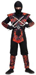 Widmann Lángoló Sárkány ninja jelmez - 158-as méret (05638)