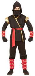 Widmann Ninja jelmez (fekete/piros/arany) - 128cm-es méret (96816)