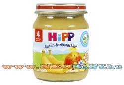 HiPP Banán őszibarackkal 4 hónapos kortól - 125g
