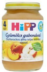 HiPP Őszibarackos alma teljes kiőrlésű rizzsel 4 hónapos kortól - 190g