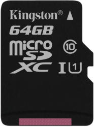 Kingston MicroSDXC 64GB C10/UHS-I SDCS/64GBSP
