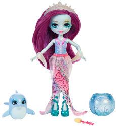 Mattel Enchantimals - Hajszínváltós Dolce Dolphin és Largo babaszett
