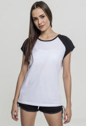 Urban Classics Ladies Contrast Raglan Tee white/black