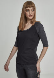 Urban Classics Ladies 3/4 Contrast Raglan Tee black/charcoal