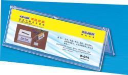 KEJEA Display nume pentru birou, din plastic, forma A, 85 x 250mm, KEJEA - transparent