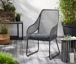Tchibo Kerti szék, fonott szürke