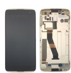 Alcatel NBA001LCD1899 Gyári eredeti Alcatel Idol 4S OT-6070 arany kerettel komplett LCD kijelző érintővel