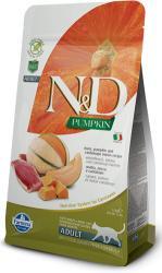 Farmina - Италия / Italy N&d cat grain free pumpkin duck & cantalupe adult - пълноценна храна за котки над 1 година, с тиква, патица и пъпеш - 300 гр (n&d cat grain free pumpkin duck&cantalupe adult 300гр)