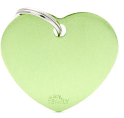 My family medalion - Inimă verde L