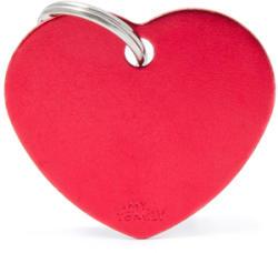 My family medalion - Inimă roșu S