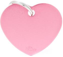 My family medalion - Inimă roz deschis L