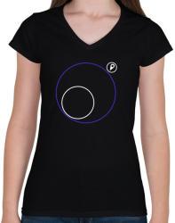 printfashion PUBG körön kívül - Női V-nyakú póló - Fekete