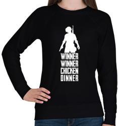 printfashion Winner Winner Chicken Dinner PUBG - Női pulóver - Fekete