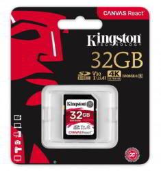 Kingston Canvas React SDHC 32GB UHS-I/C10/V30/A1 SDR/32GB