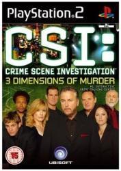 Ubisoft CSI: Crime Scene Investigation 3 Dimensions of Murder (PS2)