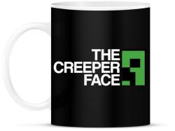 printfashion Minecraft - Creeper Face - Bögre - Fekete