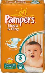 Pampers Sleep & Play 3 Midi (4-9kg) 58db