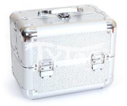 TyToo Kicsi kozmetikai bőrönd 17, 5 x 21x 27, 5 cm ezüst