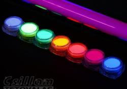TyToo UV-Neon csillámpor szett 7 x 5ml Neon színek