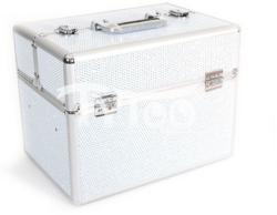 TyToo Nagy kozmetikai bőrönd 26 x 28, 5 x 37, 5 cm Ezüst