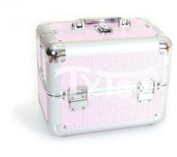 TyToo Kicsi kozmetikai bőrönd Csillogós rózsaszín-ezüst