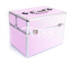 TyToo Nagy kozmetikai bőrönd Csillogós Rózsaszín
