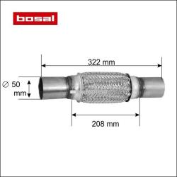 BOSAL Racord flexibil toba esapament 50 x 322 mm BOSAL 265-519